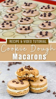 Cute Desserts, No Bake Desserts, Delicious Desserts, Dessert Recipes, Yummy Food, Baking Ideas, Baking Recipes, Cookie Recipes, Macaroon Cookies