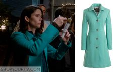 Grimm - Juliette (s04e07) - J.Crew Double-Cloth Lady Day Coat with Thinsulate in Vedigris - $378