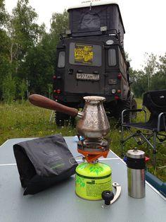 Бодрое утро )) После ночевки на территории Татарстана, лето 2013 года.