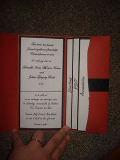 Wedding, Orange, Invitations, Black, Heart