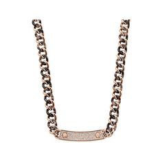 Michael Kors Pavé Stainless Steel and Tortoise Acetate Necklace, Rose... ($137) ❤ liked on Polyvore featuring jewelry, necklaces, rose gold, toggle clasp necklace, stainless steel necklace, rose gold jewelry, sparkly necklace and tortoise necklace