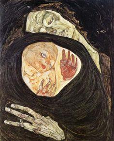 """Egon Schiele: """"Dead Mother,"""" 1910."""