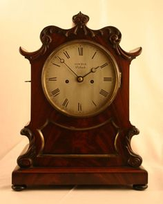 Sowter, Oxford English Double Fusee Bracket Clock Circa 1845