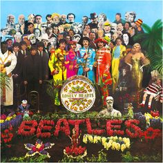 The Beatles: a rare autographed 'Sgt. Pepper's Lonely Hearts Club Band' album, signed on the gatefold sleeve by John Lennon, Paul McCartney George Harrison and Ringo Starr [later], Parlophone PMC Paul Mccartney, Greatest Album Covers, Cool Album Covers, Beatles Album Covers, Peter Blake, John Lennon, Pink Floyd, Cover Art, Lp Cover
