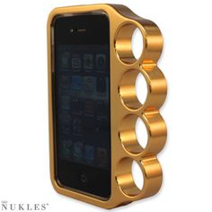 brass knuckles in 24k gold cc: @Molly Porter