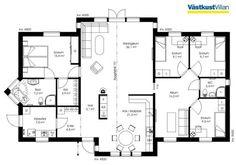 Schwedenhaus eingeschossig SkandiHaus 155 Grundriss