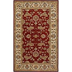 Brisbane Red Wool  - 5 Ft. x 8 Ft. Area Rug