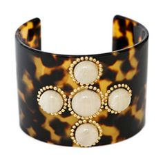 tortoise cuff with ivory cabachon :: $46