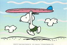 Snoopy ready to surf!
