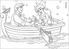 coloring sheet about disney movie the little mermaid beautiful drawing of ariel and eric on