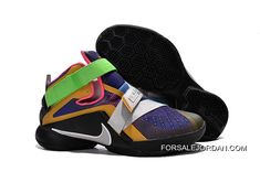"pretty nice 8f57f 14b2c Nike LeBron Soldier 9 ""What The LeBron"" Multi Color Black-White Basketball  Shoe Super Deals"