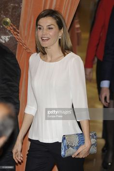 Queen Letizia of Spain attends the Rare Diseases World Day at CSIC headquarters on March 3, 2016 in Madrid, Spain.