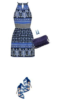 """""""true blue"""" by divacrafts ❤ liked on Polyvore featuring Schutz, Burberry, Rebecca de Ravenel and Original"""