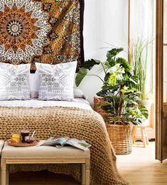 Modern bohemian bedroom Modern Bedroom, Bedroom Decor, Bohemian Bedroom Diy, Eclectic Bedrooms, Cute Room Ideas, Dreams Beds, Love Your Home, Eclectic Decor, Decoration
