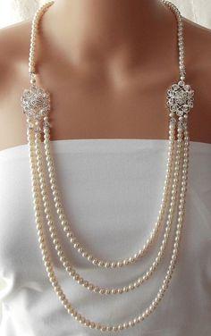 perlenketten hochzeit braut halskette hochzeitsschmuck edelstein schmuck schmuck accessoires schmuckkastchen