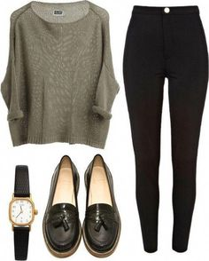 Loafers outfit womens, casual sunday outfit, sunday brunch outfit, casual o Mode Chic, Mode Style, Fall Winter Outfits, Autumn Winter Fashion, Spring Outfits, Mode Outfits, Casual Outfits, Fashion Outfits, Mode Swag