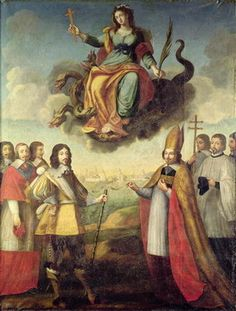 Entry of Louis XIII (1601-43) King of France and Navarre, into La Rochelle, 1st November 1628, circa 1629 by Pierre Courtillon