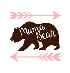 Mama Bear Vinyl Decal Sticker, Yeti Vinyl Decal, Nursery Vinyl Decals, Craft Vinyl, Wall Vinyl Decor, Car Vinyl, Bumper Stickers