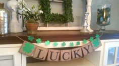 Kiss Me I'm Irish Banner, Lucky Banner, St Patrick's Day Decor, Lucky Sign, St  Patrick's Day Banner-St  Patrick's Day Bunting - Photo Prop