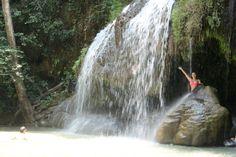 Waterfalls at Erawan Falls, Thailand