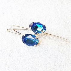 Vixen swarovski® crystal drop earrings - Bidiliia Blue Crystals, Swarovski Crystals, Ring Necklace, Dangle Earrings, Crystal Drop, Vixen, Statement Rings, Jewelry Making, Sparkles