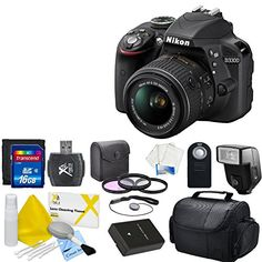 Nikon D3300 24.2 MP CMOS Digital SLR Camera With Nikon 18-55mm f/3.5-5.6G VR II AF-S DX NIKKOR Zoom Lens & CS Essential Package: Includes High Speeed 16GB SDHC Memory Card, SD Card Reader, Memory Card Wallet, SLR Hand Strap, Lens Cap Keeper, Wireless Shutter Release, Shoe Mount Flash, Weather Resistant Carrying Case, 3 Piece Filter Kit (UV,CPL,FLD) Nikon EN-EL14a Replacement Battery, Brush Blower, Cleaning Kit, LCD Screen Protectors & CS Microfiber Cleaning Cloth  http://www.lookatca..