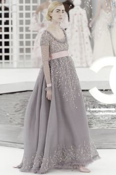chanel haute couture 2000 | Raquel Zimmermann at Chanel Haute Couture Spring/Summer 2005