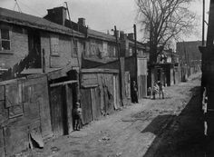 View of a dilapidated back alley in Pointe St. Charles district, April 1946 by Richard Arless (MIKAN 3380652 Old Montreal, Montreal Ville, Vintage Photographs, Vintage Images, Canada Eh, Colonial Architecture, 10 Picture, The Good Old Days, Old Pictures