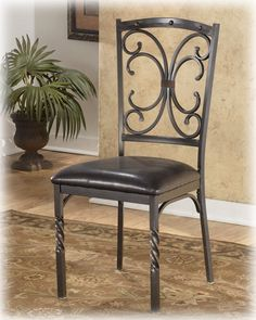 Brindleton Brown Dining Uph 4 Side Chairs