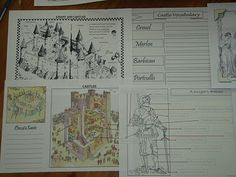 Last in Line...: Middle Ages Notebook Pages , Lapnotes and Colour in Sheets