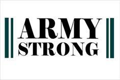 Vinyl Lettering : Army Strong Vinyl Letters | BannerBuzz