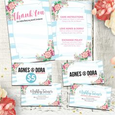 Agnes and Dora Marketing Bundle Marketing Kit Starter Package Watercolor Floral No.9