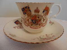 Royal China Aynsley cup & saucer to celebrate the coronation of Edward V11 1902 | eBay