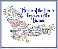 """""""Lets be Brave"""" cross stitch pattern by Ursula Michael -- I MUST get this one!! <3"""
