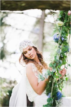 Cap veil. French chateaux. Bohemian.
