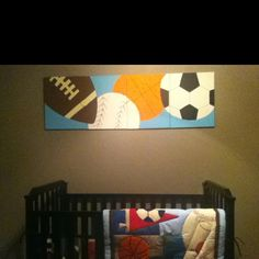 all star sports canvas i painted for corvin's nursery.