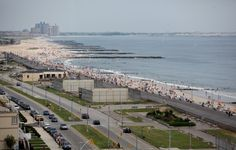 Rockaway Beach Handball courts as seen from above 102nd Street, Queens NY