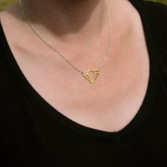 BLING necklace  vintage brass diamond and sterling by BluHour, $38.00