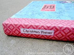 The Scrap Shoppe: Christmas Planner - she's always one step ahead of the game & here's why...