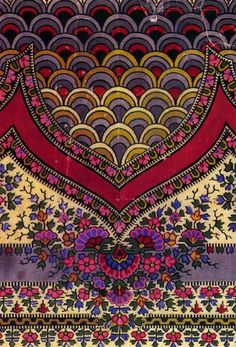 Portion of a print of a Kashmir shawl by Victorian textile designer George Haite from the book 'Designs for Shawls' by Hilary Young.