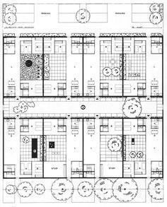 Y.C. Wong, conjunto de casas patio, Chicago 1961-1967