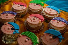 Pirate-themed birthday cupcakes