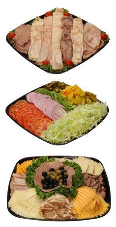 Deli party platter ideas. Love the condiment tray!!
