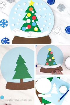 Puffy Paint, Pintura Puff, Winter Thema, Snow Globe Crafts, Kids Snow Globe Craft, Kids Globe, Winter Crafts For Kids, Spring Crafts, Kids Christmas Art
