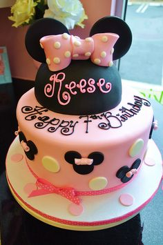 Happy 3rd Birthday Olivia A 6 8 Minnie Mouse Cake Filled With