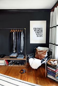 DIY Garment Rack is a fantastic idea for a small bedroom that might not have a closet!