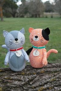 Jude & Eloise: A PDF sewing pattern, cat plush, cat softie