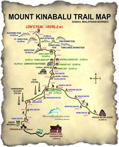 Mt Kinabalu Trail Map | Mount Kinabalu