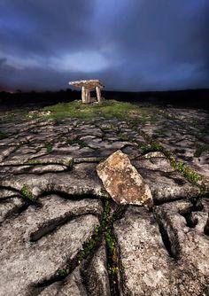 The Burrenn (Boireann) dolmen, County Clare, Ireland
