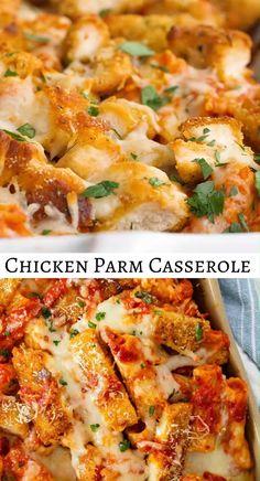 Chicken Parmesan Casserole, Italian Chicken Casserole, Chicken Recipes For Dinner, Chicken Receipe, Best Chicken Recipes, Dinner Recipes, Chicken Nachos, Chicken Pasta, Chicken Stovetop